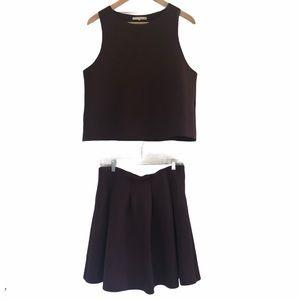 Oak + Fort skirt and crop top